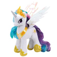 Plüss figura MY LITTLE PONY, 18cm - Princess Celestia